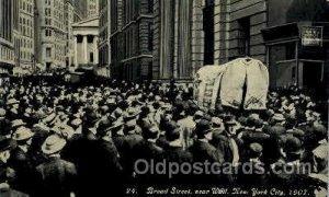 Broad Street, New York City, NY Ezra Meeker, Oregon Trail Traveler by Ox Cart...