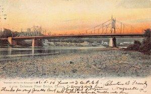 EASTON PA~DELAWARE RIVER BRIDGE-1905 ROTOGRAPH TINTED SUNSET PHOTO POSTCARD
