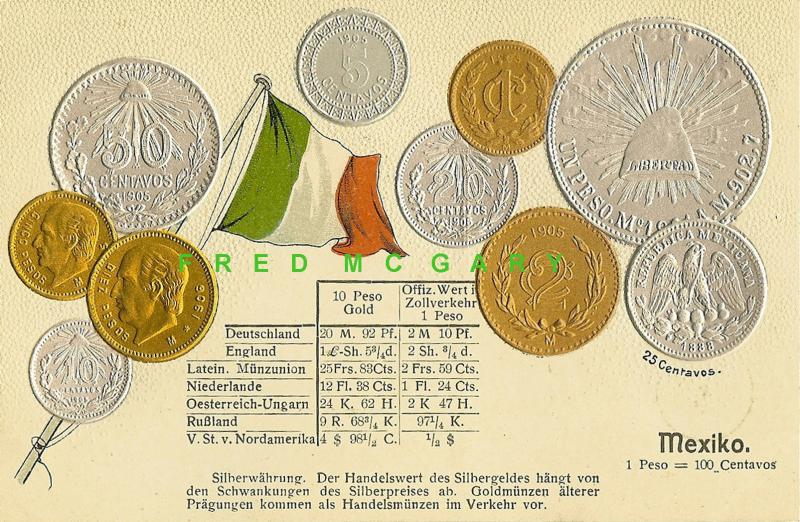 1906 Numismatics PC: 10 Mexican Coins & Exchange Rates