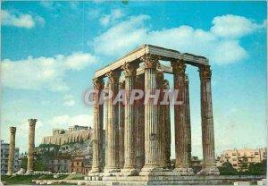 Postcard Modern Athens The Temple of Olympian Zeus