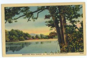 Linen Greetings from Hawley Pennsylvania PA near Lake Wallen