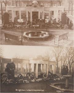 Brighton Military War Memorial 2x Back View Real Photo Postcard s