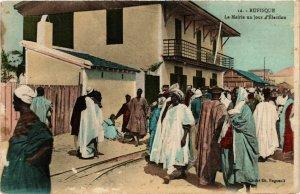 CPA AK Rufisque - La Mairie un Jour d'Élection SENEGAL (778600)