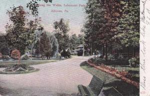 Along the Walks of Lakemont Park - Altoona PA, Pennsylvania - pm 1909 - DB