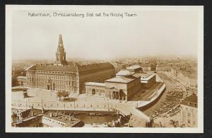 Christianborg Palace Copenhagen Denmark RPPC unused c1920's