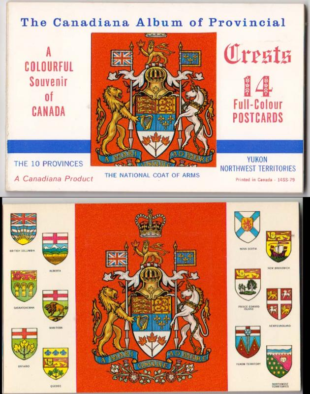 Album of Provincial Coat of Arms - 14 Postcards
