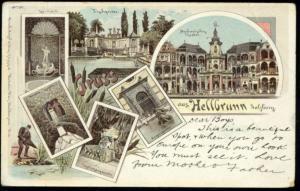 austria, HELLBRUNN, Salzburg, Theatre, Multiview (1900) Stamp