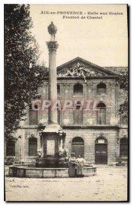 Old Postcard Aix en Provence Halle Aux Grains De Fronton Chastel