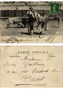 CPA Bullfighting - Course de Taureaux - Une Bonne Pique (775693)