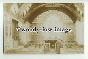 cu1915 - Interior of St.Digain Church, Llangerniew Village, Abergele - Postcard