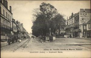 Issoudun Indre France Blvd Baron c1915 Postcard