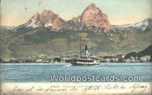 Brunnen und die Mythen Swizerland 1907