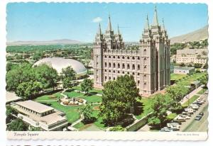 Temple Square Church Latter Day Saints Mormon 1976 4X6