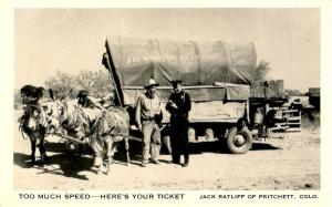 CO - Pritchett. Jack Ratliff, getting a speeding ticket. See America Fast