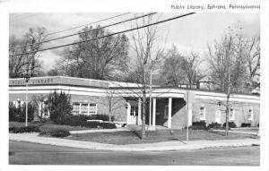 Ephrata Pennsylvania~Public Library~Covered Entry~Ionic Greek Columns~1950s B&W