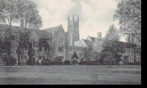 North Carolina Durham Chapel Spire Union & Dormitory Duke University Albertype