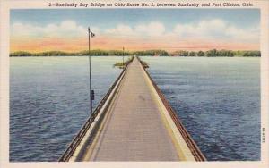 Ohio Port Clinton Sandusky Bay Bridge On Ohio Route No 2 Between Sandusky And...