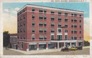 HENDERSONVILLE, North Carolina, PU-1934; Hotel Skyland, Classic Cars