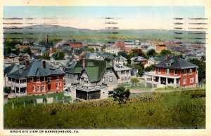 Harrisonville, Virginia - A Birds-eye view of the City - in 1921