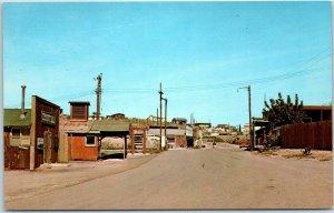 Oatman, Arizona Postcard Downtown Street Scene Chrome c1960s Unused