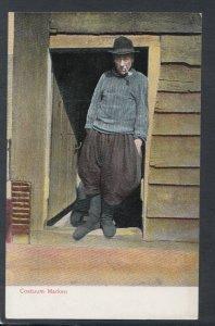 Netherlands Postcard - Dutch Costumes / Dress - Costuum Marken   T10173