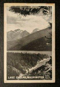 Vintage Lake Chelan Washington Real Picture Postcard RPPC with Stamp