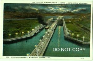 Miraflores Locks by Moonlight, Panama Canal