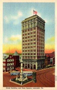 Pennsylvania Lancaster Greist Building and Penn Square Curteich