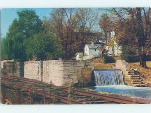 Pre-1980 CANAL FALLS Metamora by Laurel & Rushville Connersville IN AD6037