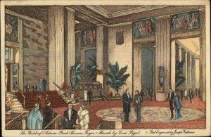New York City Waldorf-Astoria Park Ave Foyer c1915 Postcard