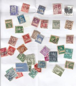 Switzerland Swiss Small Collection of Stamp Bundle