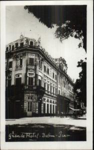 Belem Brazil Grande Hotel Real Photo Postcard