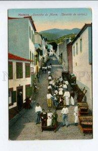 424383 PORTUGAL MADEIRA Mount Path Car Descent Vintage postcard