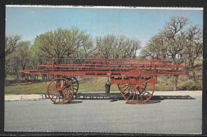 Okla. Firefighter Museum, 1900 Seagraves Ladder Cart, unused