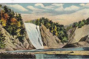 Oil-Painting, Famous Montmorency Falls, near Quebec, Canada, 00-10s