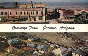 Jerome Arizona Greetings Street Scenes Antique Postcard J51847