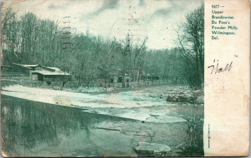 Vtg 1907 Upper Brandywine Du Ponts Powder Mills Wilmington Delaware DE Postcard