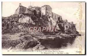 Postcard Old Miss Sainte Marguerite Fort Rocks Jumping Bazaine
