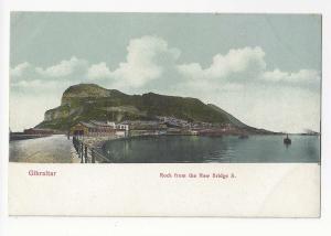 UK Gibraltar Rock View from New Bridge Vtg VB Cumbo Postcard c 1910