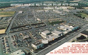 LANGHORNE, Pennsylvania , 50-60s; Reedman Corporations, Aerial View of Showrooms