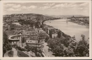 Budapest Hungary view from Gerhard hill