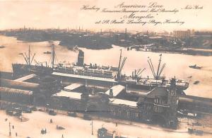 American Line Ship Postcard Old Vintage Antique Post Card American Line, Hamb...