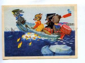 200929 RUSSIA fox hare bear on Motor boating Byalkovskaya