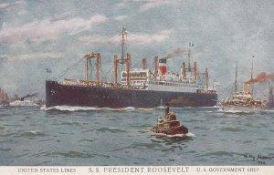 United States Lines' Ocean Liner S.S. PRESIDENT ROOSEVELT , 00-10s ; Artist W...