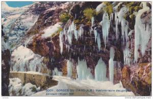 GORGES DU CIANS, Vue Interieure des gorges pendant l'Hiver, Vallauris, Alpes ...