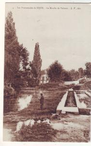 P1181  old france unused fishing le promenades de dijon la moulin de vaisson