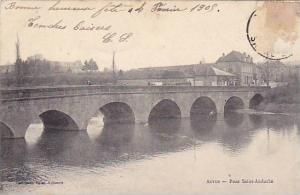 Pont Saint-Andoche, Autun, Saone et Loire, France, PU-1905
