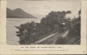 Bassenthwaite Lake Skiddaw Helvellyn Railway Railroad Train newspaper clipped