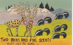 COMIC; 1930-40s; Two Bucks And Five Scents Won't Get Me Home, Bucks and skunks