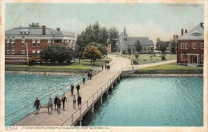 LPS48 Fort Monroe Virginia Looking South from The Ramparts Postcard